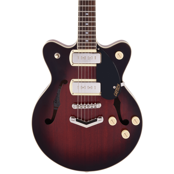 Gretsch G2655-P90 Streamliner Center Block Jr. Double-Cut P90 with V-Stoptail - Claret Burst
