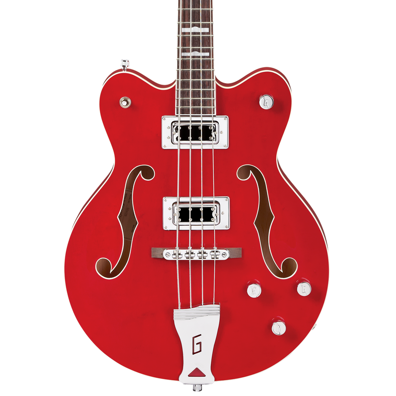 "Gretsch G5442BDC Electromatic Hollow Body 30.3"" Short Scale Bass - Transparent Red"