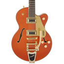 Gretsch G5655TG Electromatic Center Block Jr. Single-Cut with Bigsby and Gold Hardware - Orange Stain