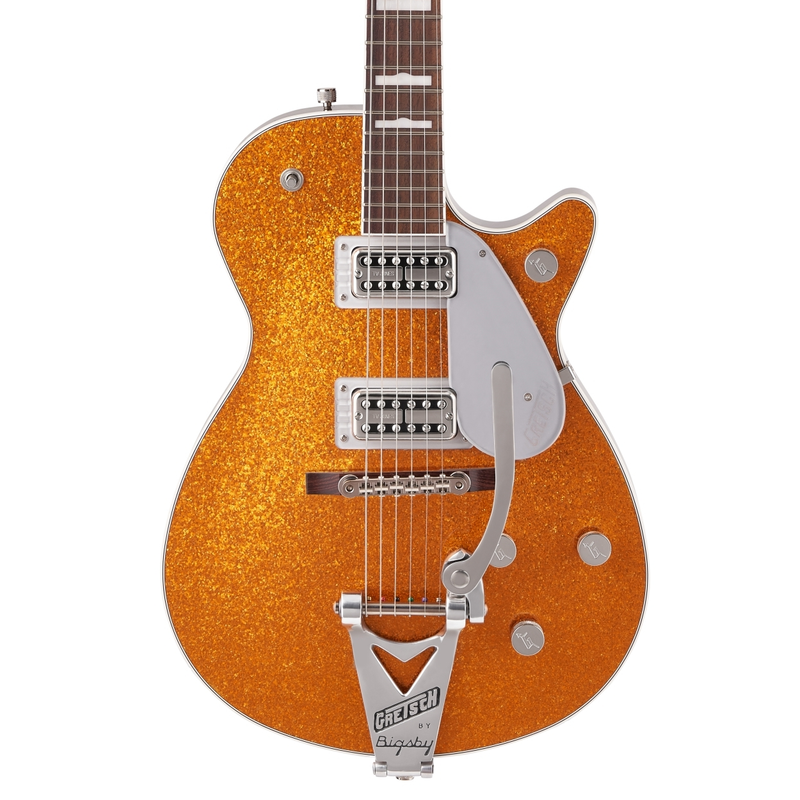 Gretsch G6129T-89VS Vintage Select '89 Sparkle Jet with Bigsby - Gold Sparkle