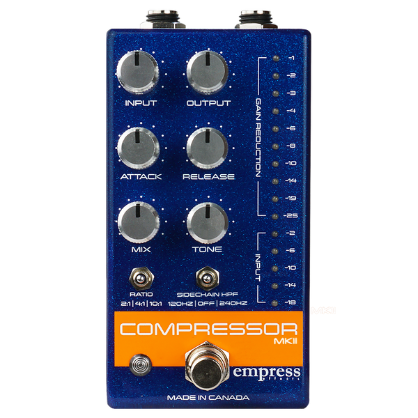 Empress Compressor MKII - Blue - Safe Haven Music Guitars