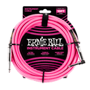 Ernie Ball 10' Braided Straight / Angle Instrument Cable - Neon Pink