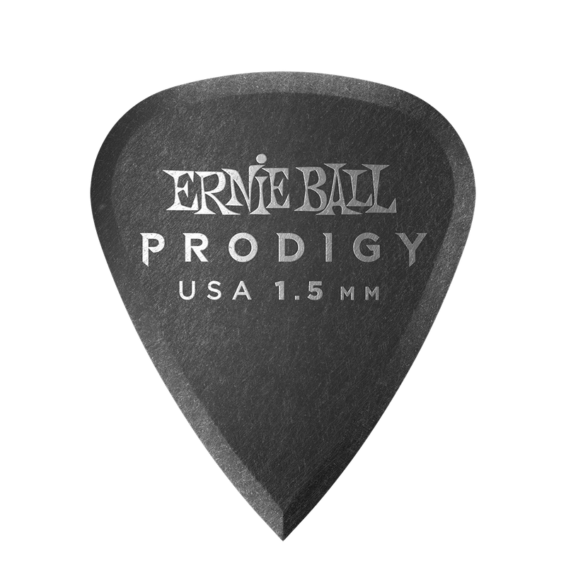 Ernie Ball 1.5mm Black Standard Prodigy Picks 6-pack