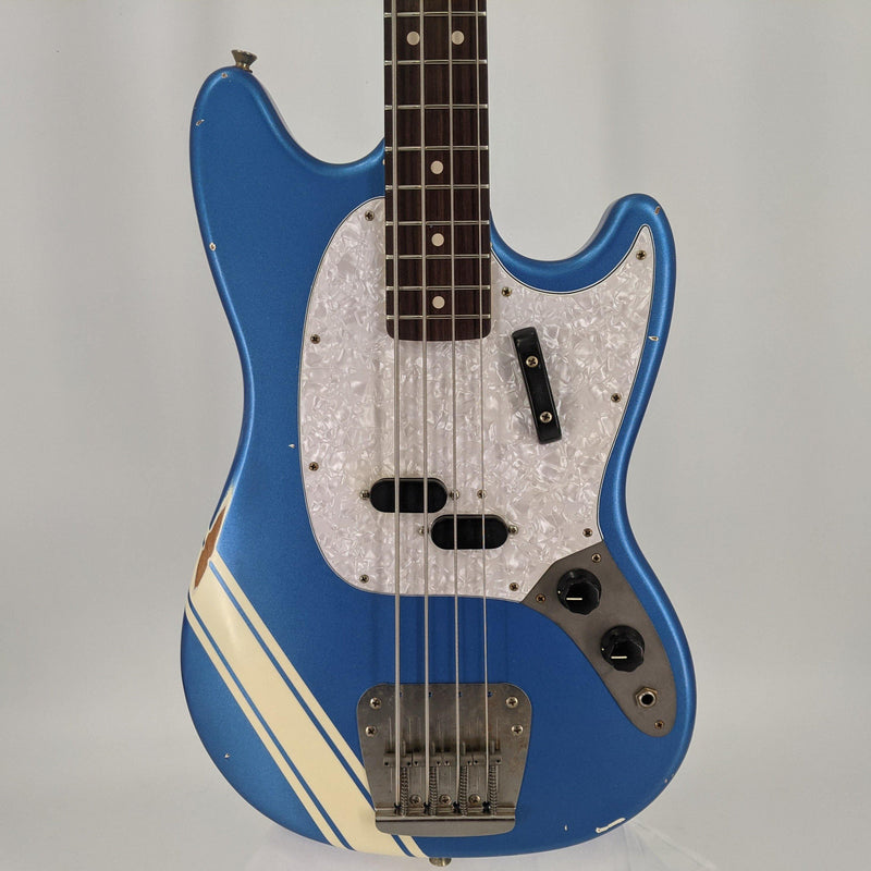 Nash MB-63 Mustang Bass - Lake Placid Blue with Competition Stripe - Safe Haven Music Guitars