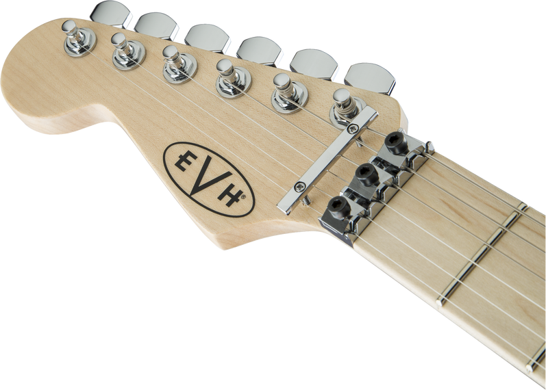 EVH Striped Series Left-Handed R/B/W - Red, Black, and White