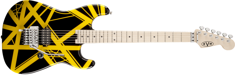 EVH Striped Series Electric Guitar Black/Yellow