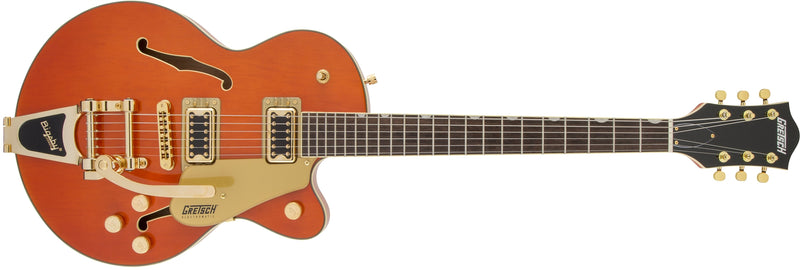 Gretsch G5655TG Electromatic Center Block Jr. Single-Cut with Bigsby and Gold Hardware, Orange Stain