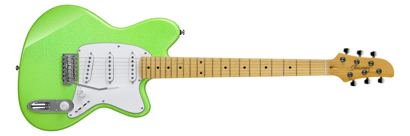 Ibanez Yvette Young Signature YY10 - Slime Green Sparkle