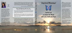 "Hard Cover Book ""Inspired Blessings"" Led by God to Inspire the World with Love, Faith and Hope by Jean Marie Prince"