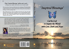 "Soft Cover Book ""Inspired Blessings"" Led by God to Inspire the World with Love, Faith and Hope By Jean Marie Prince"