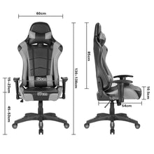 Load image into Gallery viewer, Grey Ergonomic Gaming Chair