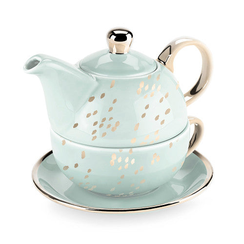 Addison Champagne Dots Tea for One by Pinky Up