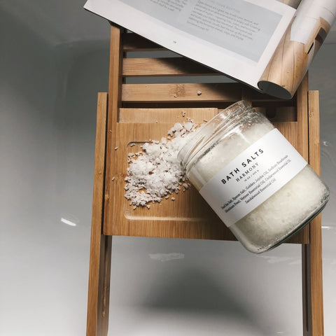 15 oz Glass Jar of Bath Salt by Slow North