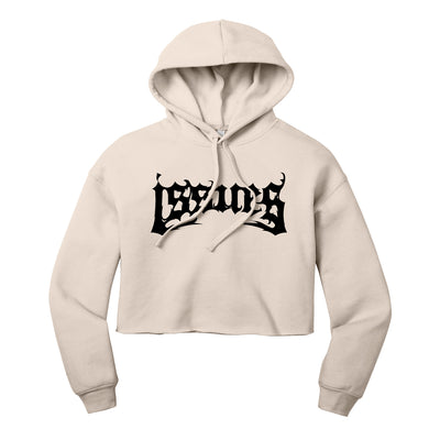 Death Metal Logo Heather Dust Cropped Pullover