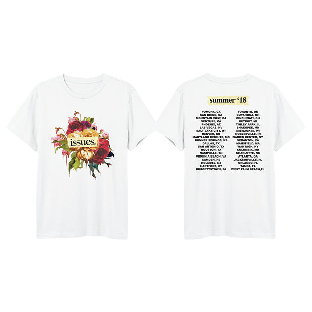 Flowers Warped Tour 2018 White T-Shirt