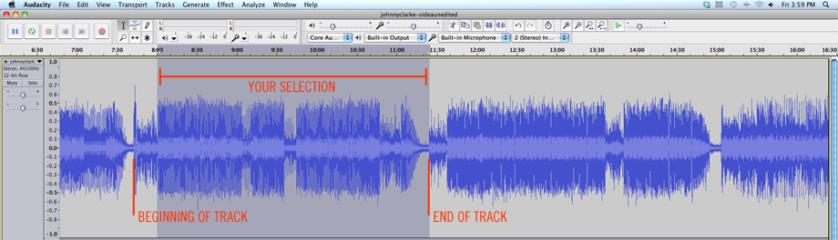 how to record vinyl to mac using audacity