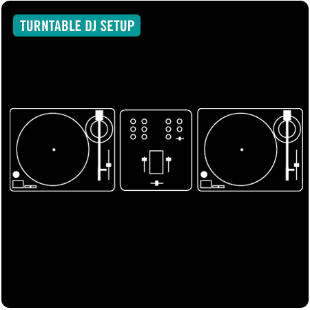 turntable dj setup