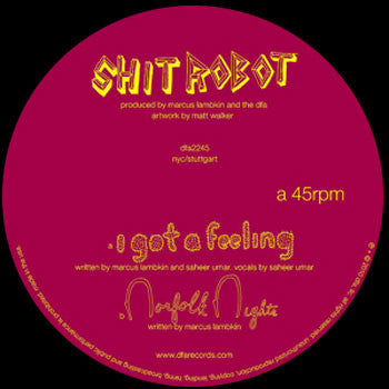 Shit Robot: I Got A Feeling (feat. Saheer Umar) 12""