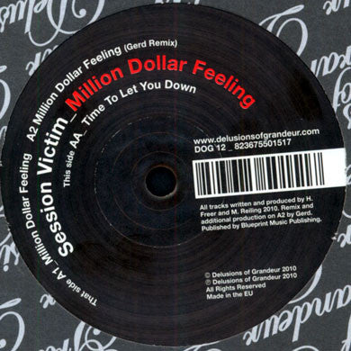 Session Victim: Million Dollar Feeling (Gerd Remix) 12""