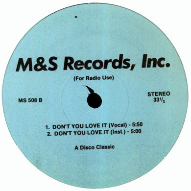 Maxine Singleton: Don't You Love It 12""