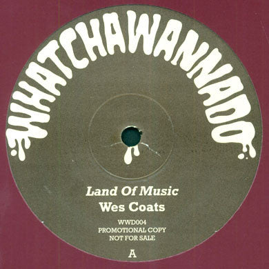 Wes Coats / Blackjoy: Land of Music / Love 12""