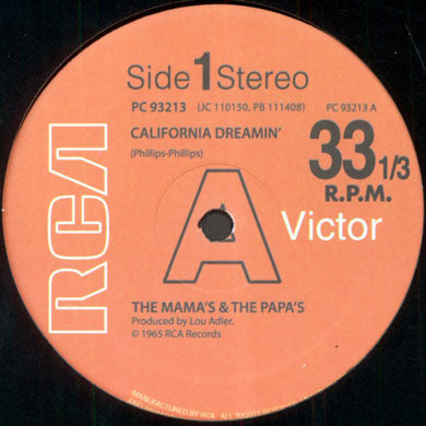 The Mama's & The Papa's / Jose Feliciano: California Dreamin' 12""
