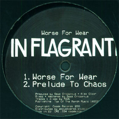 In Flagranti: Worse For Wear Sampler 1 12""