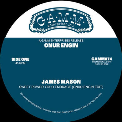 Onur Engin: Sweet Power / Summer Madness Live (James Mason, Kool & The Gang) 12""