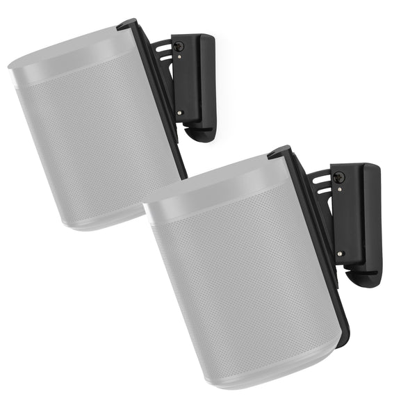 Flexson: Wall Mount For Sonos Play 1 - Black (Pair) (AAV-FLXP1WM2021)