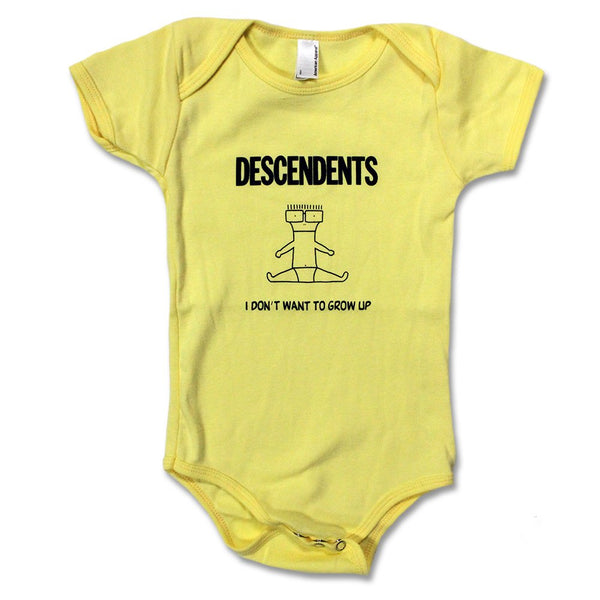 Descendents: I Don't Want To Grow Up Onesie - Yellow