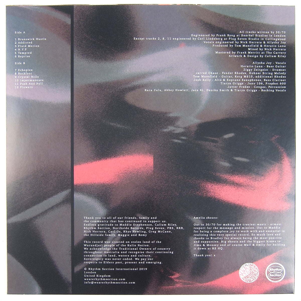30/70: Fluid Motion Vinyl LP