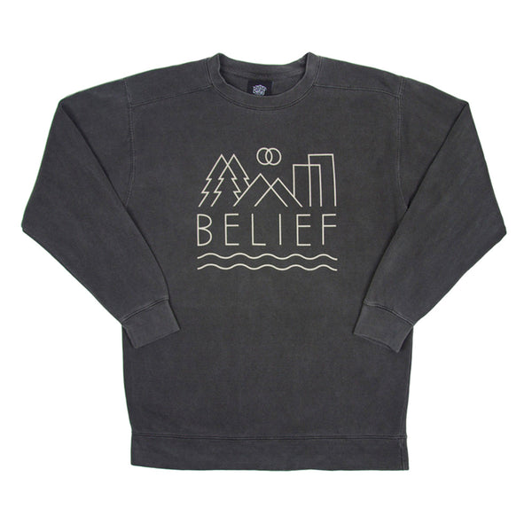 Belief: 3D Crewneck Sweatshirt - Pepper