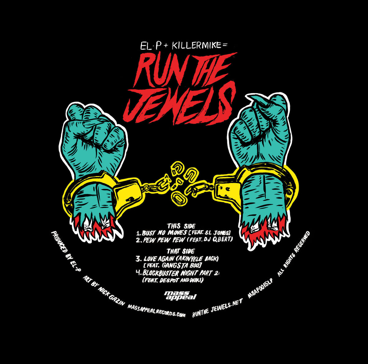 Run The Jewels : Record Store Day Release (Colored Vinyl) Vinyl LP (Record Store Day)