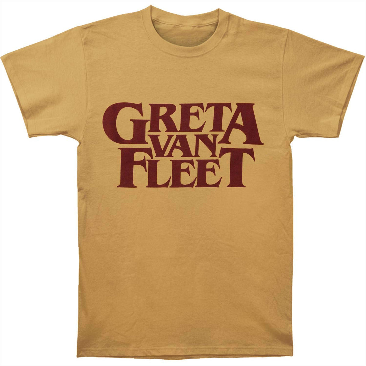 Greta Van Fleet: Old Gold Logo Shirt - Gold