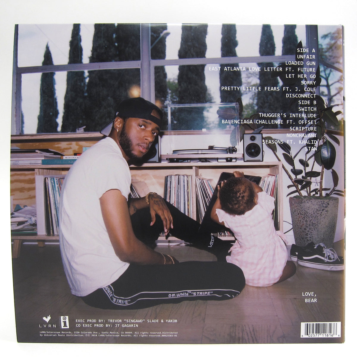 6lack: East Atlanta Love Letter Vinyl LP