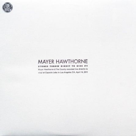 Mayer Hawthorne: Stones Throw Direct To Disc #1 2LP