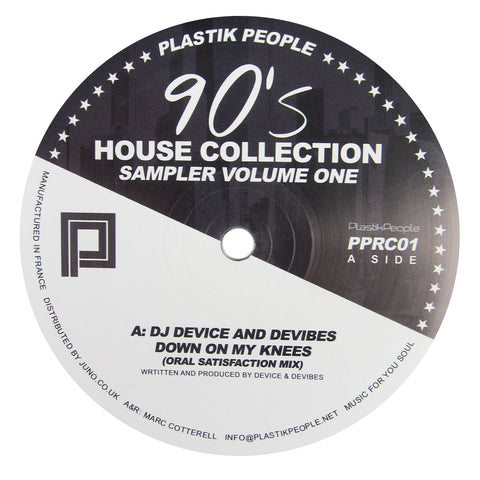 Plastik People Recordings: 90's House Collection Sampler Volume One Vinyl 12""