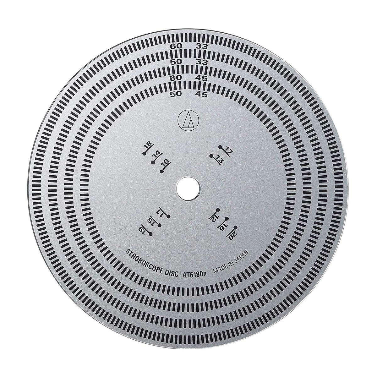 Audio-Technica: AT6180a Stroboscopic Disc for Turntable Speed Check