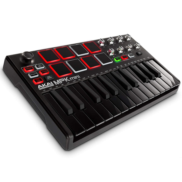 Akai: MPK Mini MK2 Keyboard + Pad Controller - Special Edition BlackAkai: MPK Mini MK2 Keyboard + Pad Controller - Special Edition Black