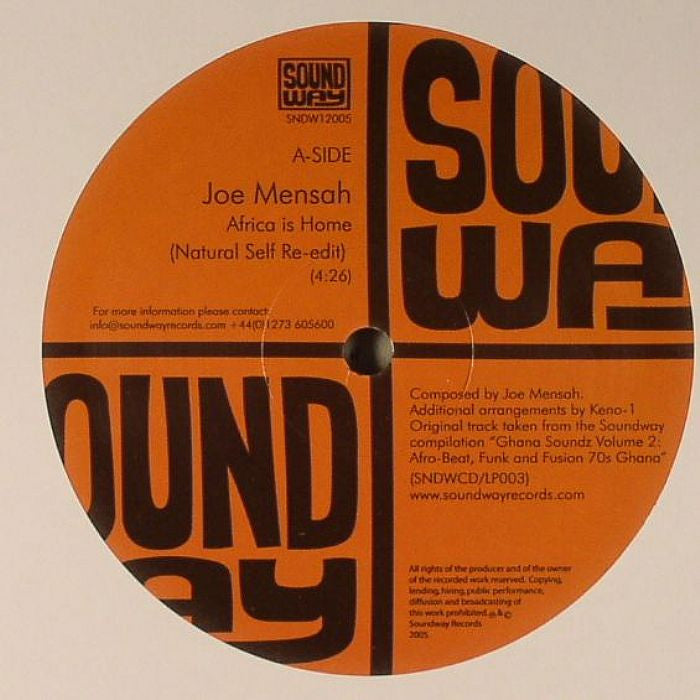 Joe Mensah: Africa - Natural Self Re-Edit 12""
