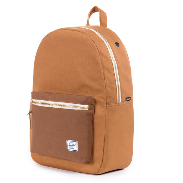 Herschel Supply Co.: Settlement Backpack - Caramel Coated Cotton Canvas (Select Series)
