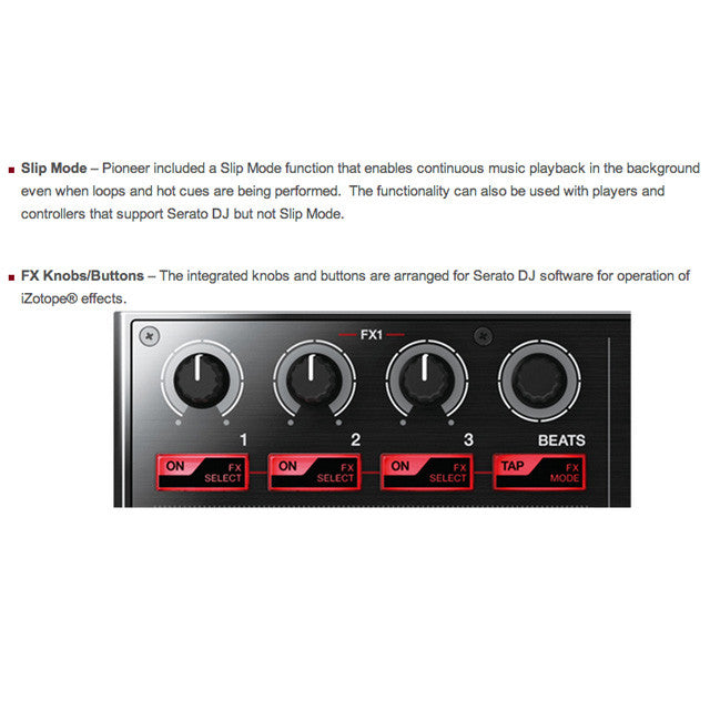 Pioneer: DDJ-SP1 Sub-Controller Features 2
