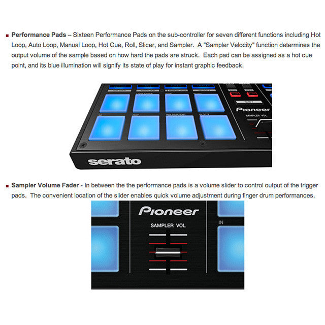 Pioneer: DDJ-SP1 Sub-Controller Features