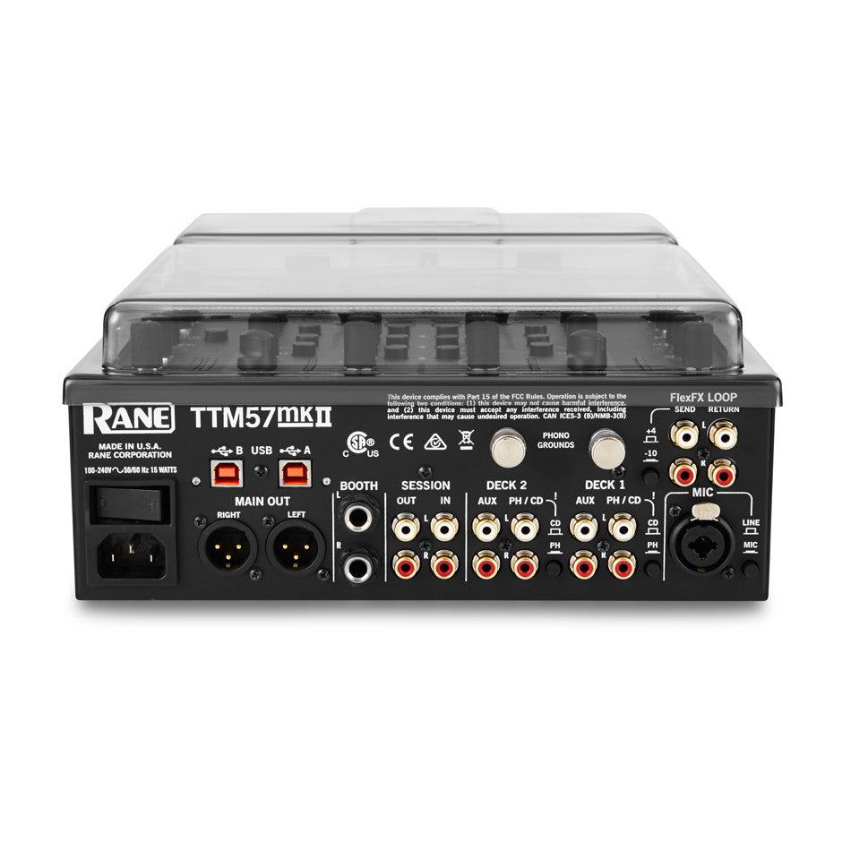 Decksaver: Polycarbonate Dustcover for Rane TTM-57MKII (DS-PC-TTM57II)