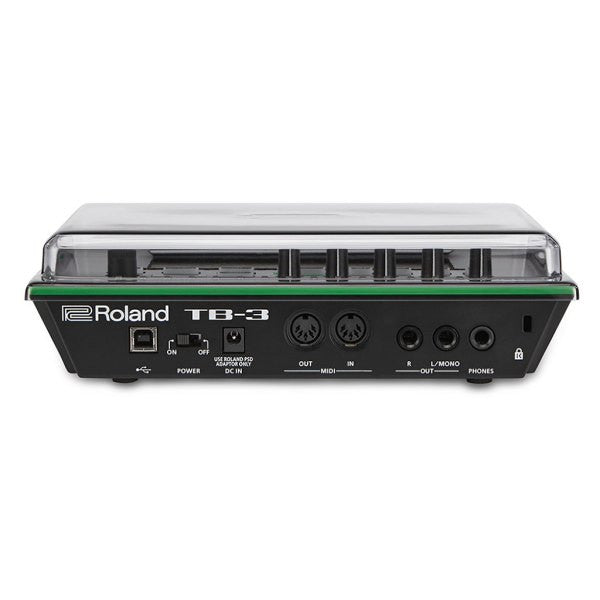 Decksaver: Polycarbonate Dust Cover for Roland Aira TB-3 (DSS-PC-TB3)  back
