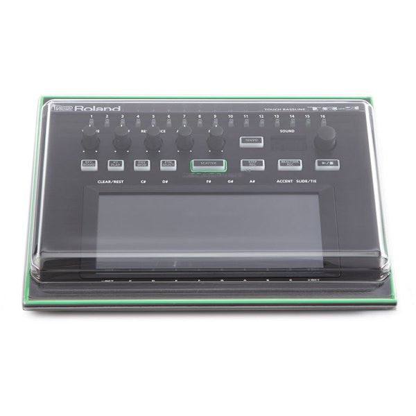 Decksaver: Polycarbonate Dust Cover for Roland Aira TB-3 (DSS-PC-TB3) top