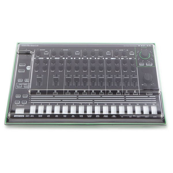 Decksaver: Polycarbonate Dust Cover for Roland Aira TR-8 (DSS-PC-TR8) top