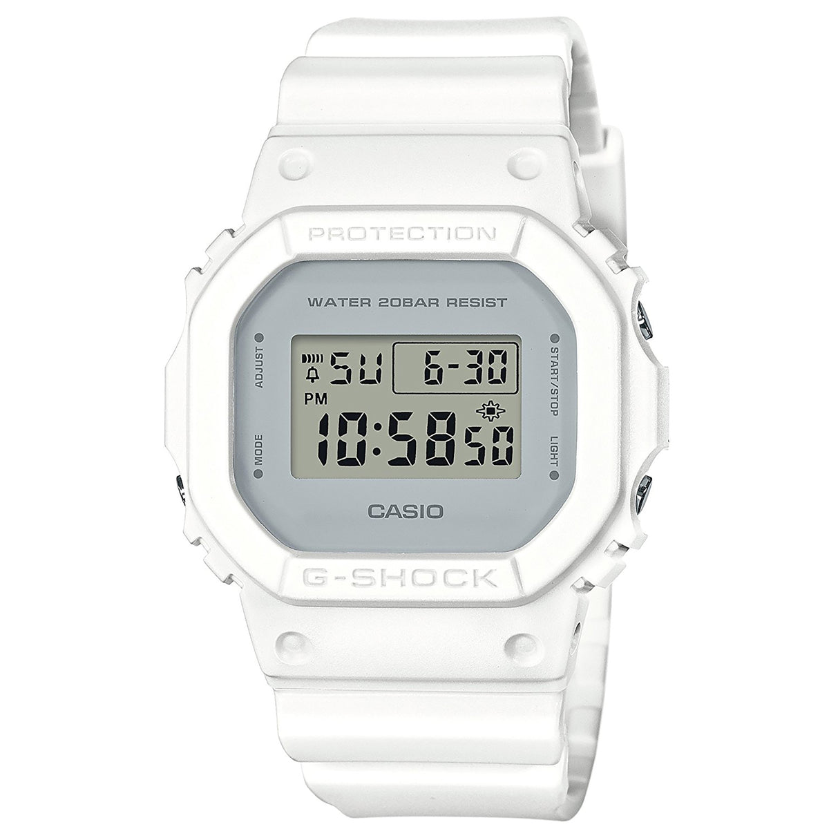 G-Shock: DW-5600CU-7 Watch - White