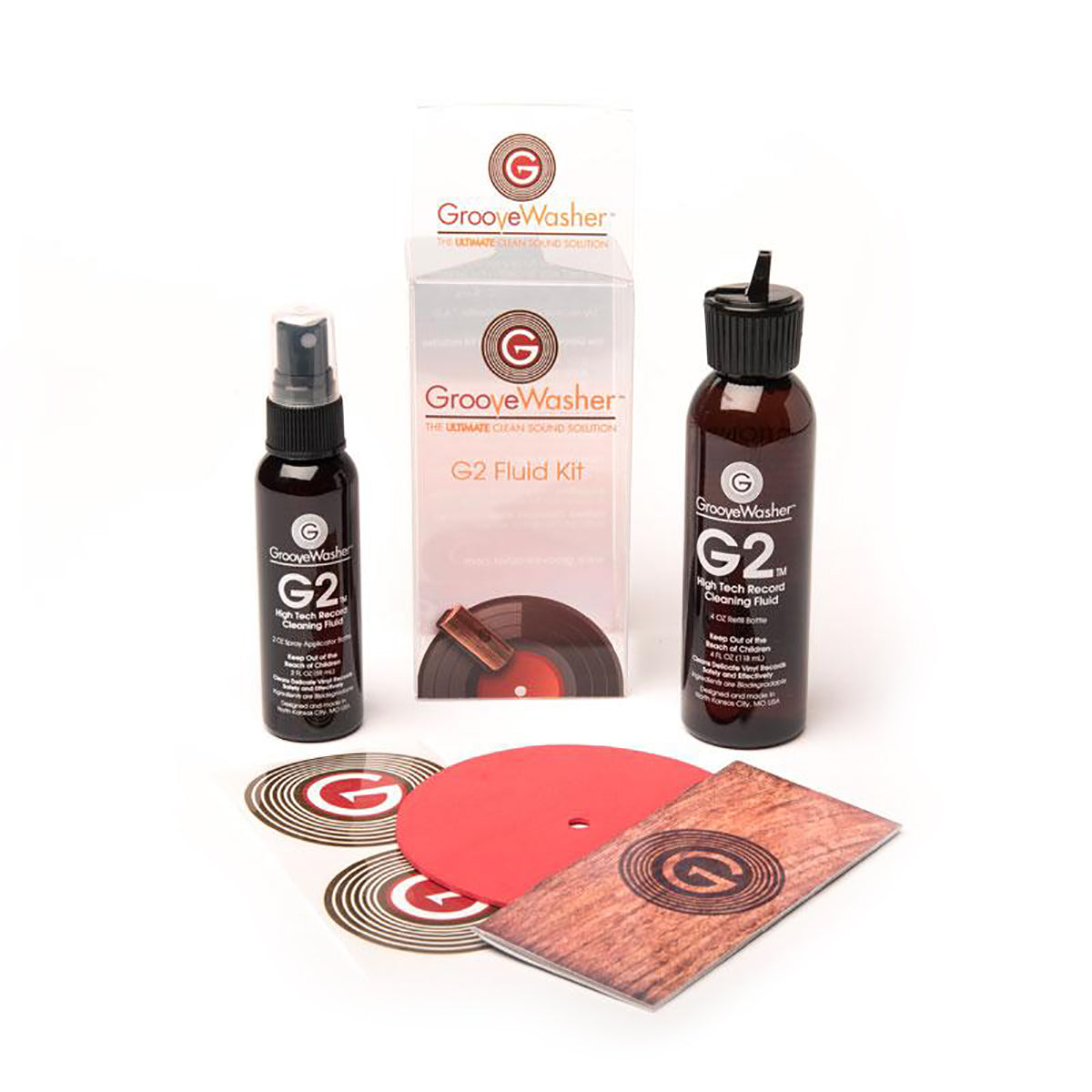 GrooveWasher: G2 Record Cleaning Fluid Kit - 2oz Spray & 4oz Refill