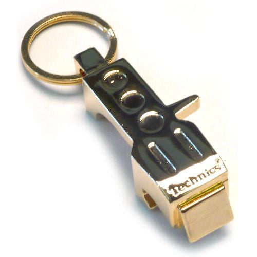Technics: Headshell Bottle Opener Keychain - Gold